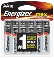 Max Alkaline Aa Batteries, 16 Count