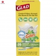 Glad Odorshield Gain Original Quick-tie Small Trash Bags 4 Gallon 26 Count