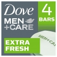 DoveMen+Care Extra Fresh Body and Face Bar 4 oz, 4 Bar