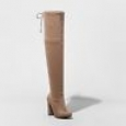 Women's Penelope Heeled Over The Knee Boots - A Day Light Taupe 6.5