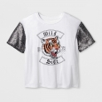 Girls' Sequin Graphic T-Shirt - art class White S