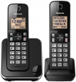 Panasonic Black Dect 6.0 Plus Cordless Phone Set With 2 Handsets Kx-tgc352