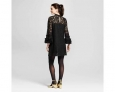 Who What Wear Women's Lace Shift Dress - Black - Size:s