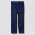 Boys' Reinforced Knee Flat Front Pants - Cat & Jack&153; Navy 14 Husky