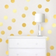 WallPops Metallic Confetti Dots Wall Decal Set (Yellow)