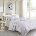 Wendy Cotton 6 Piece Percale Printed Coverlet Set by Madison Park White
