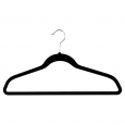 Room Essentials 10Pk Velvet Shirt Hanger, Black