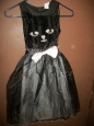 Girls' Kitty Cat Witch Costume - Black - Size:m(7-8)