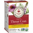 Traditional Medicinals Organic Throat Coat Herbal Tea Lemon Echinacea 16 Tea Bags