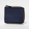 Men's Nylon Zip Around Wallet - Goodfellow & Co Navy (Blue) One Size