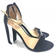 Women's Lulu Block Heel Sandals - Merona Black 9.5