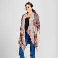 Women's Drapefront Fringe Cardigan Knox Rose S, Multicolored