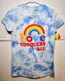 Mad Engine - Pride Adult Love Conquers All Tie-dye T-shirt - Women's Small -