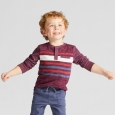 Toddler Boys' Long Sleeve Henley Shirt - Genuine Kids from OshKosh Heather Red 1