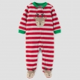 Baby Boys' Reindeer Fleece Sleep N' Play - Just One You Made by Carter's Red
