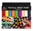 Kid Made Modern Textile Permanent Fabric Spray Paint Markers - 9 Color Pack