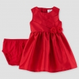 Baby Girls' Sleeveless Rosette Dress - Just One You Made by Carter's Red 12M