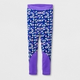 Girls' Sporty Cozy Lined Leggings - Cat & Jack Purple XS