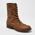 Women's Cassie Combat Boots - Mossimo Supply Co. Cognac 6