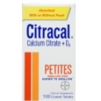Citracal Calcium Citrate + D3 - Petites, 100ct
