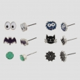 Girls' 6pk Halloween Theme Earring Set - Cat & Jack Green