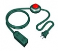 Westinghouse 28184-1 3-Outlet Indoor Foot Tapper 9-Foot Extension Cord, Green