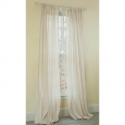 Manor Luxe Gloucester Linen Look Sheer Rod Pocket Window Curtain, 52 by 96-Inch, Natural, Single Panel