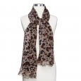 Women's Leopard Print Oblong Scarf - Brown