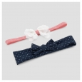 Baby 2pk Floral Dot Headwraps - Just One You Made by Carter's Pink/Navy (Pink/
