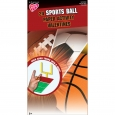 24ct Valentine's Day Sports Ball Paper Activity, Multi-Colored