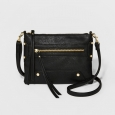 Women's Crossbody Handbag - A New Day Black