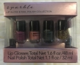 Lip Gloss & Nail Polish Collection 16 Variety Colors Sparkle