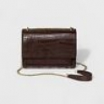 Women's Chain Flap Crossbody Handbag - A Day Brown