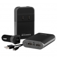 Techlink ReCharge - RC 7800 Travel Power Kit, Multi-Colored