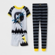 Boys' Batman 3pc Cotton Pajama Set - Black 8
