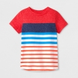 Infant Toddler Boys' Short Sleeve Stripe Raglan Tee - Blue Burst 6