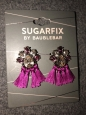 Sugarfix By Baublebar Women's Crystal Tassel Drop Earrings , Dark Fuschia