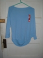 Womens Top Mossimo Supply Co Trillium Blue Size Xl W/tags Long Sleeve