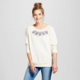 Women's Embroidered Knit Sweatshirt - Knox Rose Oatmeal Xl