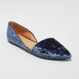 Women's Poppy D'orsay Pointed Toe Ballet Flats - A Day Blue 7.5
