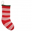 "20"" Red Striped Stocking Christmas Holiday Stocking"