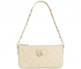 DKNY Gansevoort Quilted Nappa Leather Small Crossbody (Sand)