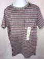 Cat & Jack Boys Medium 8-10 Gray Stripe Short Sleeve Shirt With Chest Pocket