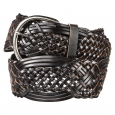 MERONA Black Macrame Braid Belt - L