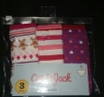 3 Pairs Of Cat & Jack Girls Briefs Underwear Size Small 6/6x
