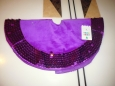 16'' Purple Mini Tree Skirt With Sequin Trim