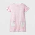Girls' Stripe Easter Dress - Cat & Jack Pink S