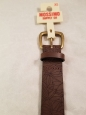 "Mossimo Belt Xs Brown Bonded Leather Punched Floral Pattern 26"" - 30"""