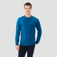 Fruit Of The Loom Men's Long Sleeve Henley T-Shirt - Legion Blue L, Dark Blue