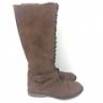 Women's Magda Lace-up Tall Boots - Mossimo Supply Co.&153; Brown 8.5